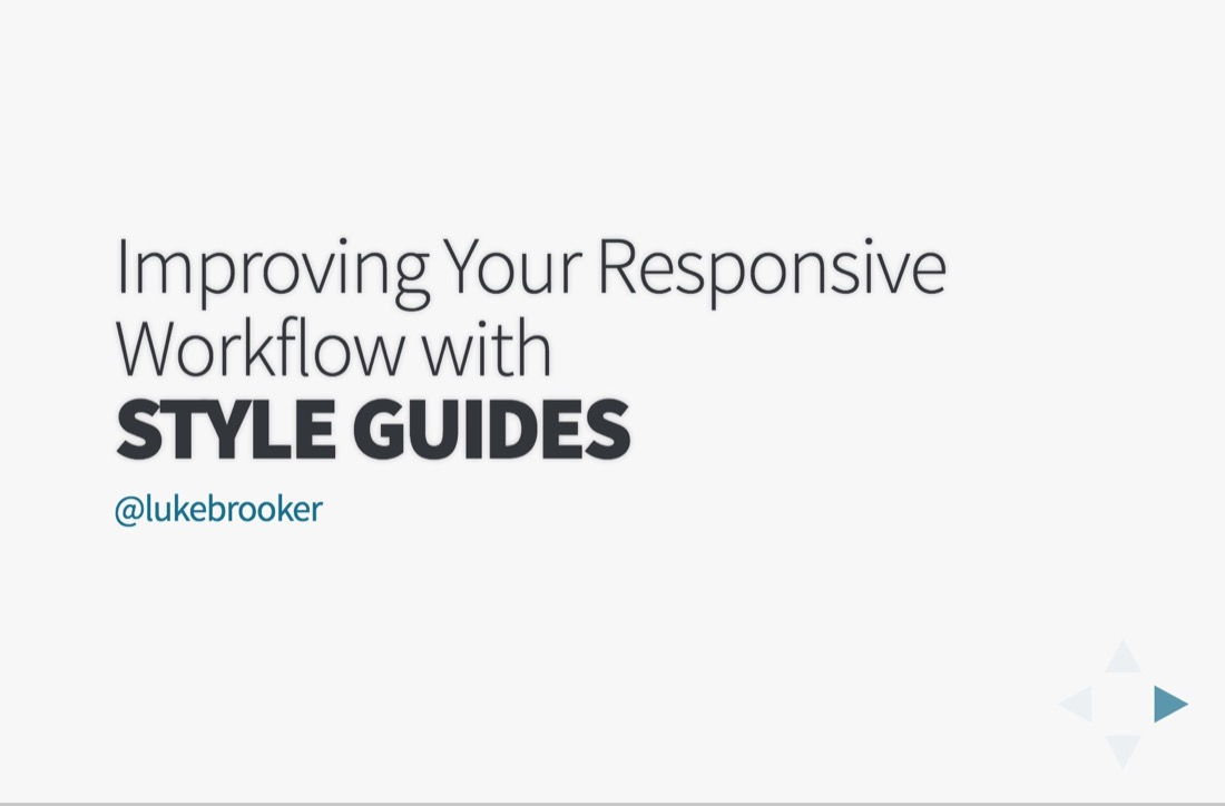 Improving Your Responsive Workflow With Style Guides
